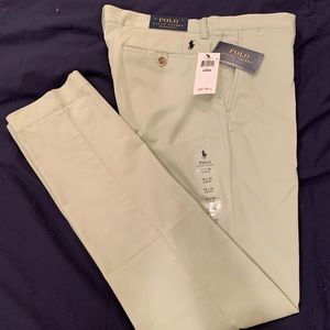 Polo Green Stretch Slim Fit Chinos